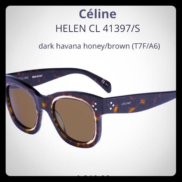 4a1e10898c Celine Accessories - Celine Helen CL41397 S Brown Women s Sunglasses
